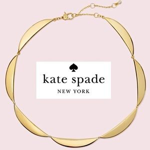 NWT Kate Spade Sliced Scallop Collar Necklace